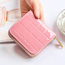 leather short paragraph small wallet female 2016 new thin Korean horse hair two fold simple snake head folding wallet wallet