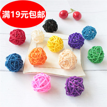 Rattan ball decoration Kindergarten hanging Jewelry Mall mobile phone shop smallpox ceiling corridor pendant classroom layout Decoration