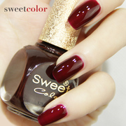 Sweet Color no nails black wine red cherry pink white nail polish through South Korea does not fade