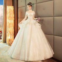 Imperial Korean-style shoulder display thin large size princess puff skirt