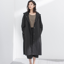 (Half dust) original design profile bat sense of spring and fall womens cotton loose-sleeved hooded casual coat jacket