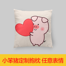 (genuine) You little bastard stupid pig. You can make any expression around a custom pillow.