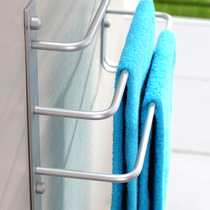Ishin Space Aluminum Three-storey bathroom towel rack toilet towel rack pendant rack Three bar towel rod