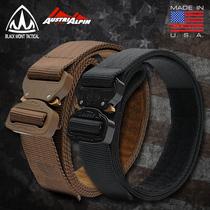 BMT Cobra Buckle Tactical Belt male austrialpin outdoor Army fan Black Eagle drop nylon inner Belt