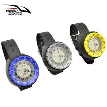 Compass strong magnetic 50 meters hand 錶 waterproof waterproof night light north pointer scuba diving compass direction