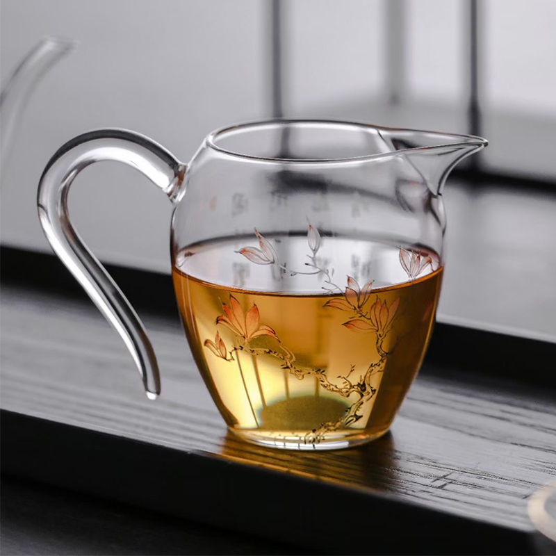 Bay smouldering glass fairway cup 300ml hand-blown heat-resistant glass male cup color put male cup tea sea