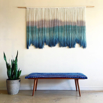 Laso ins Nordic Hand-woven dyed tapestry homestay living room bedroom decorative hanging cloth custom Tapestry