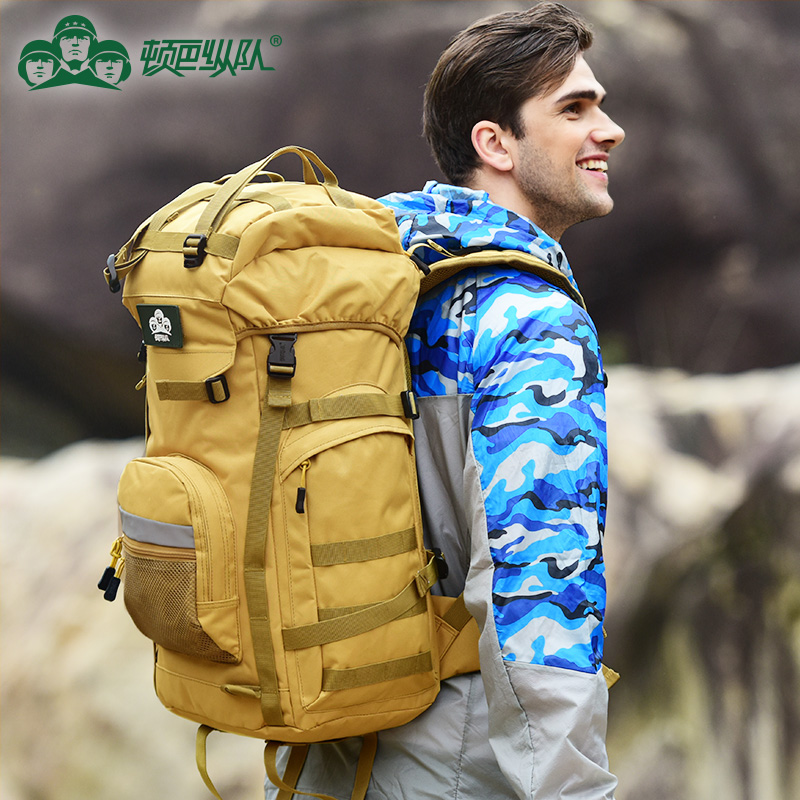 Dunbar Column Waterproof Backpack Mountaineering Bag Male Outdoor Large Capacity Backpack Hiking Bag 55l60l