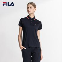 FILA Fei Music female POLO shirt 2018 official authentic new short-sleeved casual POLO shirt sports shirt female