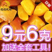 2-5 natural amber beeswax stone firmly barrel beads pendant ring ore amber yellow hand on chicken oil barrel bead