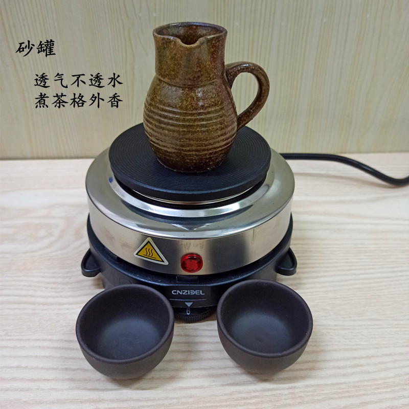 Old-fashioned coarse ceramic sand cans tea cans tea cans Gansu teapot Shava home electric stove set cup