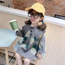 Childrens 2020 spring new girl princess dress dress girl baby autumn dress childrens Korean version of Western skirt small