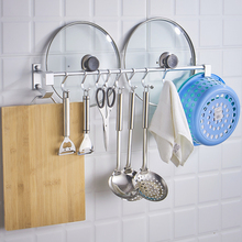 Drilling-free kitchen hook wall hanging wall row hook rod washbasin shelf wall bearing strong viscose hook