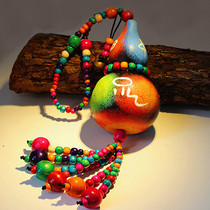 Natural feng shui gourd hanging ornaments hand-painted home jewelry dozi dofu Dragon Boat Festival indoor decoration
