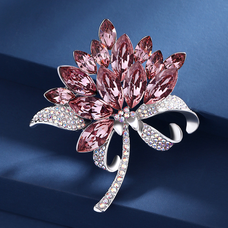 With Swarova Sage element brooch womens brooch high-end luxury accessories pin atmospheric matching temperament jewelry