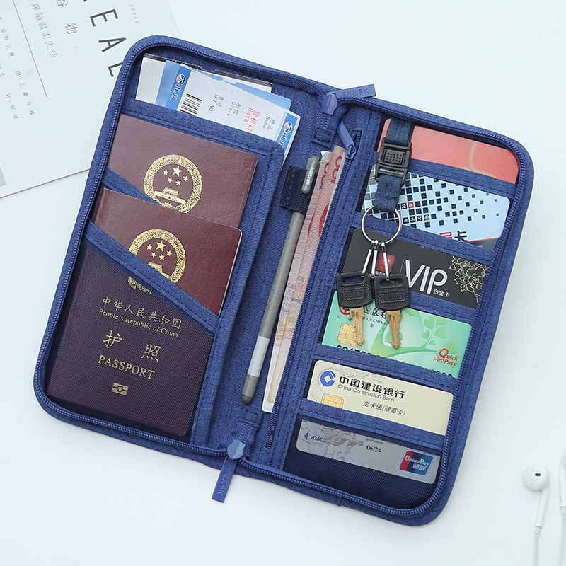 Passport charter airline ticket holder certificate protection kit receipt package visa multi-functional certificate bag portable travel in Korea