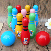 Intellectual intelligence intelligent Wooden childrens early education toys Kindergarten student Gift Box large solid wood bowling