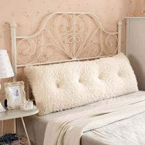 Супер мягкий горный кашемир Тумба из чистого хлопка прямоугольные большую подушку принцесса двуспальная кровать с мягкая сумка сиденья