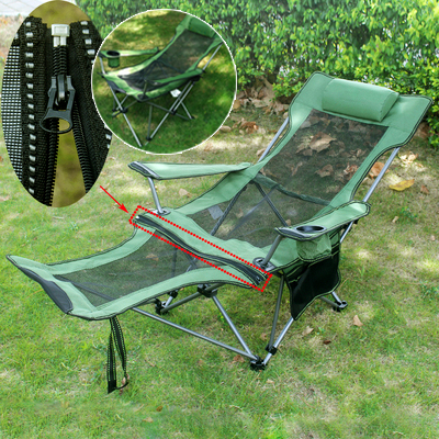 Outdoor folding chair portable fishing chair office leisure chair nap chair escort bed camping beach chair