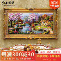 Hua Yiyuan American hand-painted hanging drawing room decorative Painting restaurant mural European Thomas Xuan Guan Landscape oil painting