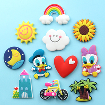 Korean cartoon creative Rainbow Soft glue Refrigerator Sticker Magnetic sticker Early teaching sticker magnet sticker refrigerator Children soft magnetic paste Set