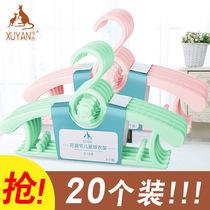 Children clothes hanger baby small hanger newborn cartoon child clothes rack baby drying hanger household trumpet