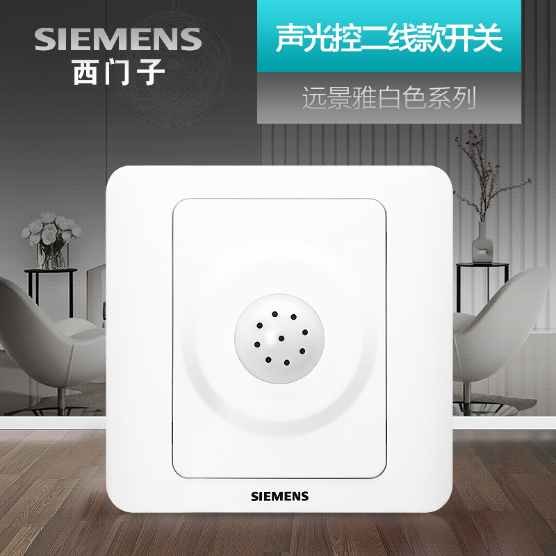 Siemens Acousto-optic Light Control Switch Vision Yabai Delay Intelligent Building Induction Socket Panel Second Line