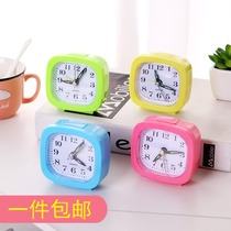 New Candy ribbon lamp square Alarm Clock office home simple round alarm clock student clock small alarm clock gift