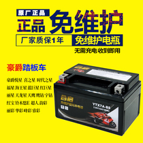 Motorcycle battery YTX7A-BS maintenance-free Haomai Haojue Yuexing 125 pedal accessories battery 12V7AH