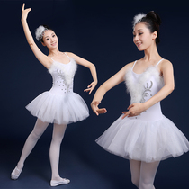 New female adult Ballet tutu skirt little swan fluffy yarn skirt white sling Dress Ballet Costume