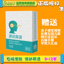 Love for children childrens right brain wave English early childhood CD teaching materials childrenS CD puzzle teaching aids set