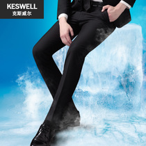 Thin section Korean version of Self-cultivation free business casual black suit pants