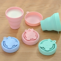 Japanese silicone Folding cup portable travel water Cup outdoor telescopic cup Wash cup folding cup mug