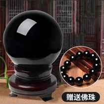 Natural obsidian crystal ball ornaments Home entrance water town house Evil spirits anti-villain Feng Shui transfer ball
