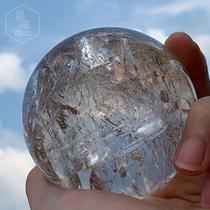 Star home natural crystal ball White crystal ball ornaments transport Rainbow lucky evil spirits town house meditation crystal