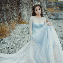 Sen Department Spring Summer Europe and the United States Court of Princess fantasy was thin wedding dress