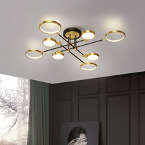 Living room lamp Nordic light luxury 2020 new lamp simple modern led ceiling chandelier creative personality bedroom lamp.