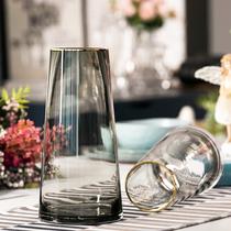 Lumière De luxe * description or nordique en forme de T simple vase en verre salon fleur décoration de la maison fleur vase décoration
