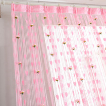 Love rose line curtain porch curtain partition curtain bedroom living room curtains wedding decoration curtain