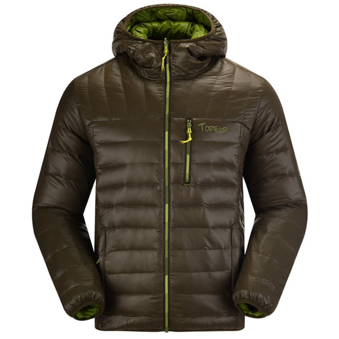 Toread outdoor men's double-sided cotton down jacket white duck down waterproof and down proof counter authentic