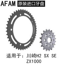 Kawasaki H2 SX SE ZX1000 front and rear chain disc size gear tooth disc size fly chain AFAM