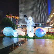 Inflatable astronaut gas imitation real light cartoon space trapeze bar DJ party event stage advertising model