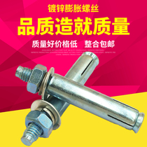 Promotion of galvanized expansion screws extra long lengthening iron external expansion bolt expansion pipe expansion wire 6 8 10 12 16