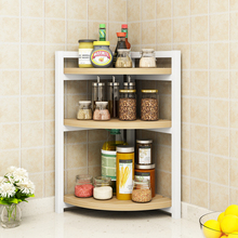 Corner kitchen shelf kitchen supplies utensils department store storage shelf floor multi-layer storage spice rack