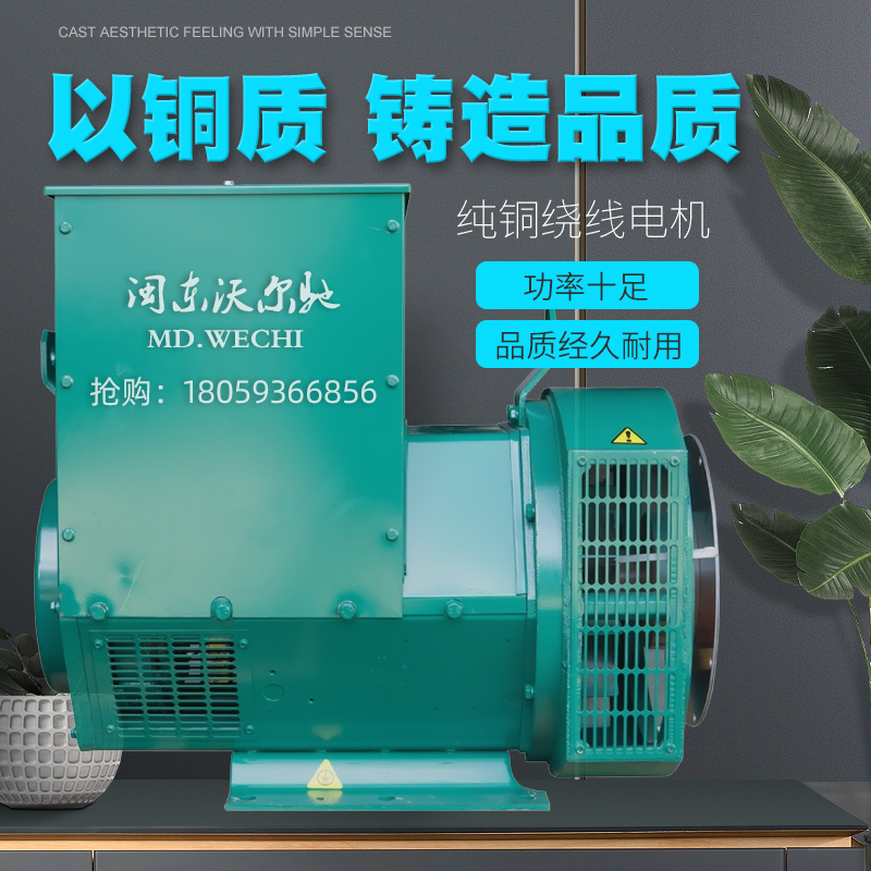 Brushless diesel generator 30 50 100 120 150KW200 kW single-phase 220V three-phase 380V electric ball