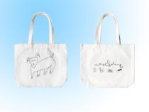 waitandsleep2019 toile sac double-face moutons sac à bandoulière