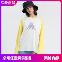 (Official website spot)WE11DONE 21SS new painted little monster long-sleeved color cartoon men and women T-shirt tide