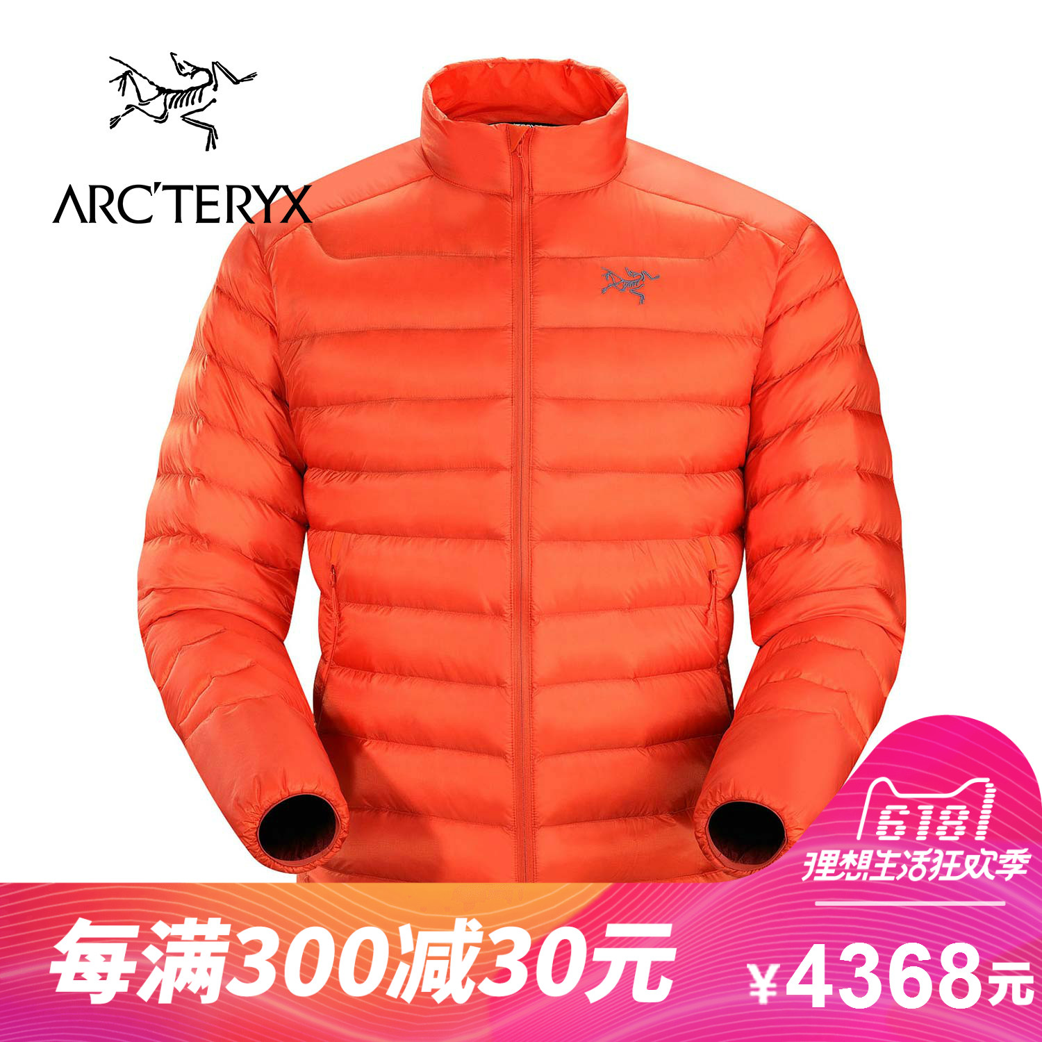 [The goods stop production and no stock]ARCTERYX / Archaeopteryx Men's Outdoor Lightweight Warm Stand Collar Down Jacket Cerium LT 13239