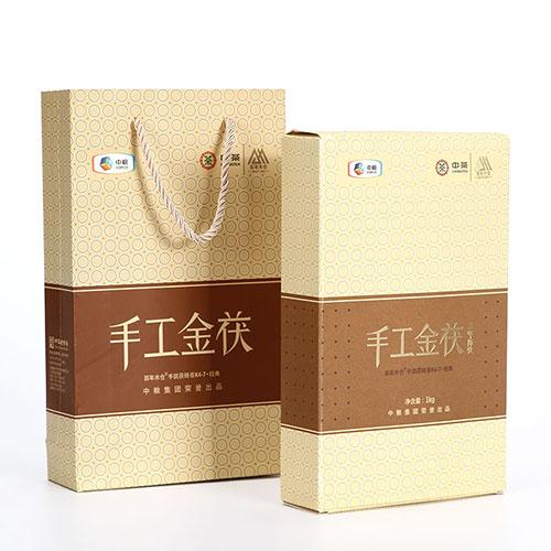 Chinese tea tea century-old Mu Cang Hunan Anhua black tea 3 years Chen Jinhua 茯 brick handmade gold 茯 1kg COFCO products