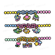 Preserved egg nursery original design lovely childlike Bracelet Anklet Castle star soft sister cartoon tattoo stickers